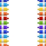 Fondo y frontera de los tubos de la pintura Lugar para su texto Fotos de archivo libres de regalías