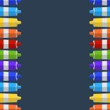 Fondo y frontera de los tubos de la pintura Lugar para su texto Fotografía de archivo libre de regalías