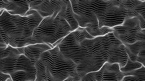Fondo y línea hermosos abstractos 3d metrajes