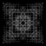 Fondo y líneas abstractos blancos y negros Fotografía de archivo