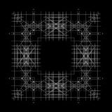 Fondo y líneas abstractos blancos y negros Fotografía de archivo libre de regalías