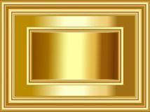 Fondo y marco de lujo del oro para las ocasiones del festival y de las celebraciones ilustración del vector