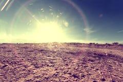 Fondo y puesta del sol de tierra abstractos Fotos de archivo libres de regalías