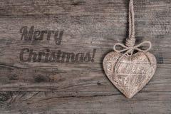 Fondo y subtítulo de madera del invierno Imagen de archivo libre de regalías