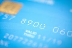 Fondo y textura azules claros de la tarjeta de crédito Imágenes de archivo libres de regalías