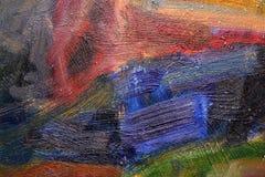 Fondo y textura coloridos pintados extracto del arte Fotos de archivo