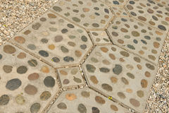Fondo y textura de la decoración de la trayectoria del pie de la roca Imágenes de archivo libres de regalías