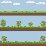 Fondo y textura del Forest Green del arte del pixel del vector Imagen de archivo libre de regalías