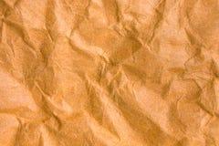 Fondo y textura del papel arrugado marrón Fotografía de archivo