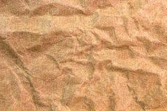 Fondo y textura del papel arrugado marrón Imagenes de archivo