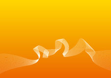 Fondo2naranja. Background with twirly lines Stock Illustration