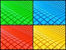 Fondos abstractos 3d fijados Imagenes de archivo