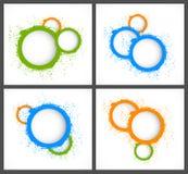 Fondos abstractos con los círculos libre illustration