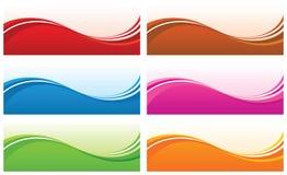 Fondos abstractos de la onda. ilustración del vector
