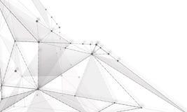 Fondos abstractos de las líneas grises claras de las moléculas Fotos de archivo