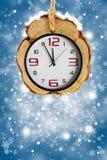 Fondos abstractos de Navidad con los relojes Foto de archivo libre de regalías