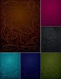 Fondos abstractos del ornamento fijados - seis colores stock de ilustración