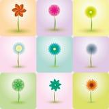 Fondos abstractos del vector de las flores Imagenes de archivo