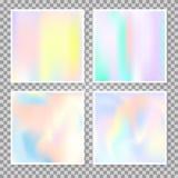 Fondos abstractos olográficos fijados Imagenes de archivo