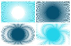4 fondos azules ilustración del vector