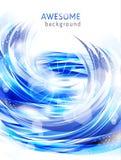 Fondos azules abstractos con el chapoteo del agua Fotos de archivo