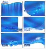 Fondos azules abstractos del asunto fijados Imágenes de archivo libres de regalías
