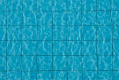Fondos azules de la piscina Imagen de archivo libre de regalías