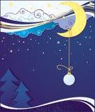 Fondos azules de tarjeta de Navidad Stock de ilustración