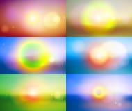 Fondos borrosos coloridos Fotografía de archivo