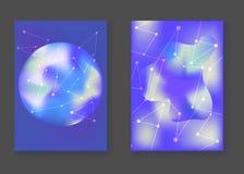Fondos cósmicos azules brillantes abstractos Imágenes de archivo libres de regalías