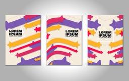 Fondos caóticos de la geometría fijados Aplicable para las cubiertas, los carteles, los carteles, los aviadores y los diseños de  ilustración del vector