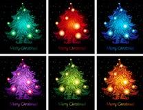 Fondos coloridos brillantes de la Navidad Fotos de archivo libres de regalías