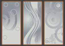 Fondos con la cortina gris. Fotografía de archivo libre de regalías