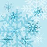 Fondos con los copos de nieve Foto de archivo libre de regalías