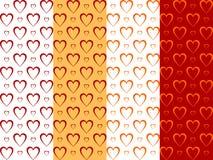 Fondos con los corazones Foto de archivo