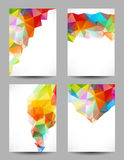 Fondos con los triángulos abstractos Fotos de archivo libres de regalías