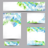 Fondos con los triángulos abstractos Imagen de archivo libre de regalías