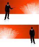 Fondos corporativos de la bandera del hombre de negocios libre illustration