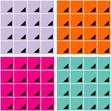 Fondos de cuadrados y de triángulos Fotografía de archivo