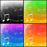 Fondos de la música ilustración del vector
