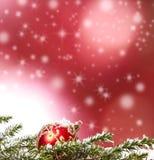 Fondos de la Navidad con los ornamentos Fotos de archivo