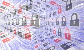 Fondos de la seguridad de Internet Imágenes de archivo libres de regalías
