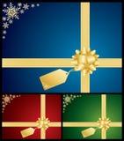 Fondos de la tarjeta del arqueamiento y del regalo de la Navidad Imagen de archivo libre de regalías