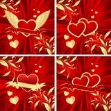 Fondos de la tarjeta del día de San Valentín Fotografía de archivo libre de regalías