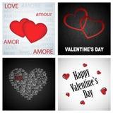 Fondos de la tarjeta del día de San Valentín Foto de archivo libre de regalías