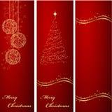 Fondos de las banderas de la Navidad Fotografía de archivo libre de regalías