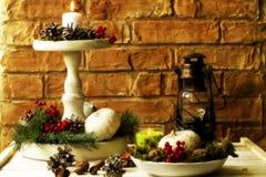 Fondos 2017 de las decoraciones de la Navidad Fotos de archivo