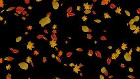 Fondos de las hojas de otoño que caen stock de ilustración