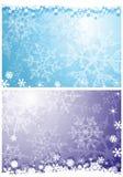 Fondos de los copos de nieve Fotos de archivo libres de regalías