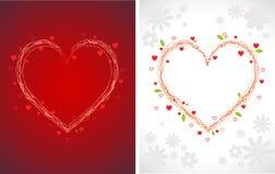 Fondos de los corazones de Swirly Foto de archivo libre de regalías